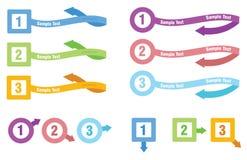 Info-diagram mall Royaltyfri Bild
