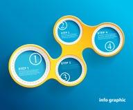 Info-diagrammet cirklar med stället för din text Royaltyfri Fotografi
