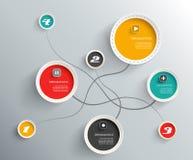 Info-diagrammet cirklar med stället för din text Arkivbild