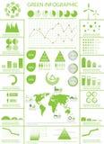 info-diagramsamling Arkivbild
