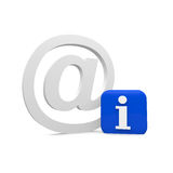 Info email. Mail with an info sign Royalty Free Stock Images