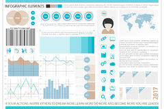Info five. Infographic elements, internet technology icons.  time line diagram, social media timetable. pie chart info graphic tools. financial statistic and Stock Image