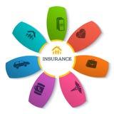 Info-flower-pattern-presentation-insurance-empty Royalty Free Stock Image