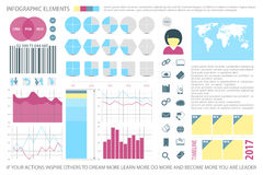 Info four. Infographic elements, internet technology icons.  time line diagram, spreadsheet. pie chart info graphic tools. financial statistic and business Royalty Free Stock Photos