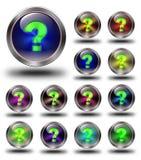 Info, glansowane ikony, szaleni kolory -03 Zdjęcia Royalty Free