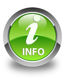 Info glossy green round button Stock Photography