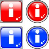 Info glossy web button Stock Image