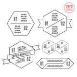 Info-gráficos con hexágono ilustración del vector