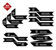Info-gráficos con la cinta stock de ilustración
