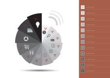 Info-grafisch Malplaatje Royalty-vrije Stock Foto's