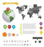 Info grafische illustratie van het detail Stock Afbeeldingen