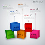 Info graphic with abstract colored cubes template Royalty Free Stock Photo