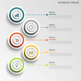 Info graphic with abstract design round labels template. Vector eps 10 Stock Photos
