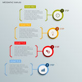Info graphic with abstract round labels template Stock Image