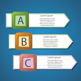 Info graphic arrows structure Stock Illustration