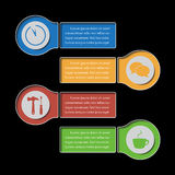 Info graphic banners - design templates Royalty Free Stock Image