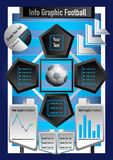 Info graphic business football and money Stock Images