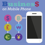 Info graphic Business on Mobile phone Stock Photography