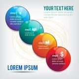 Info graphic circles Stock Image