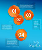 Info graphic circles with place for your text. Royalty Free Stock Photos