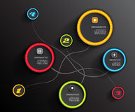 Info graphic circles with place for your text. Stock Photography