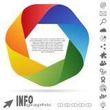 Info graphic colored Royalty Free Stock Photo