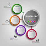 Info graphic with colored design circles poster template