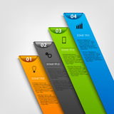 Info graphic with colored design stripes Royalty Free Stock Images