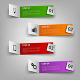 Info graphic with colored paper pointers template Stock Images