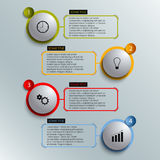 Info graphic colored round element work template Royalty Free Stock Photo