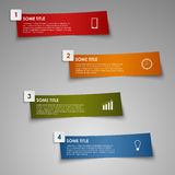 Info graphic colored striped paper template Royalty Free Stock Photography