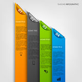 Info graphic with colored stripes and bookmarks template Royalty Free Stock Photos