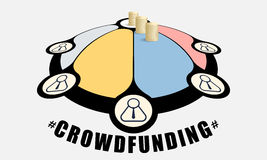 Info graphic. Colored info graphic with theme of crowd funding Royalty Free Stock Photography