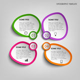 Info graphic with colorful abstract stickers template Royalty Free Stock Image