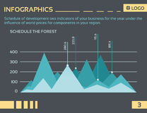 Info graphic company5 Royalty Free Stock Photography