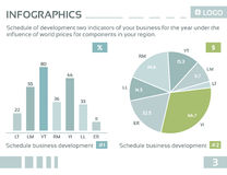 Info graphic company4 Stock Images