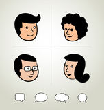Info graphic design, businessman, Speech Bubbles Icon, head Royalty Free Stock Image