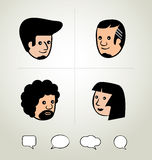 Info graphic design, businessman, Speech Bubbles Icon, head Royalty Free Stock Images