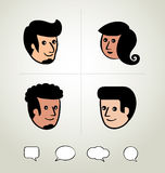 Info graphic design, businessman, Speech Bubbles Icon, head Stock Photo