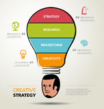 Info graphic design, creativity, business Stock Photography