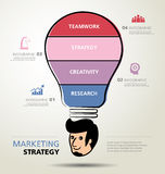 Info graphic design, creativity, business Royalty Free Stock Photo