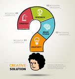 Info graphic design, solution, business Stock Images