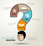 Info graphic design, solution, business Royalty Free Stock Image