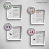 Info graphic with design square template Royalty Free Stock Photos