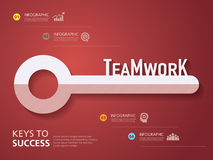 Info graphic design, , template, key to success, teamwork Royalty Free Stock Image