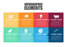 Info-graphic design template. Royalty Free Stock Images