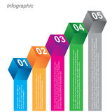 Info-graphic design templates in the form of a 3D box. Idea to display, ranking and statistics Stock Photography