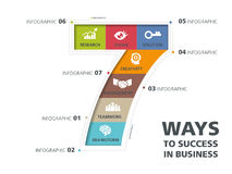 Info graphic design, way to success vector illustration