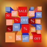 Info-graphic elements. sale. blurred background. stock  Stock Images