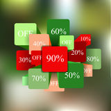 Info-graphic elements. sale. blurred background. stock  Stock Photo